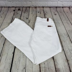 7 for all mankind dojo white Cropped jeans